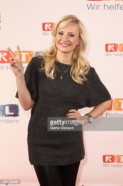 Ania Niedieck attends the RTL Telethon 2013 on November 21 2013 in Cologne Germany
