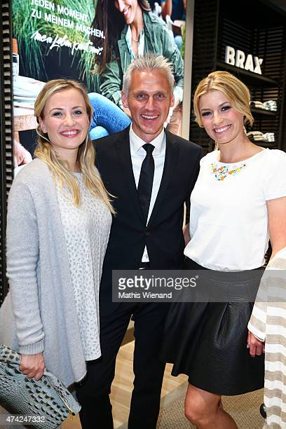 Ania Niedieck Marc Freyberg Annica Hansen attend the BRAX Store Opening on May 20 2015 in Cologne Germany