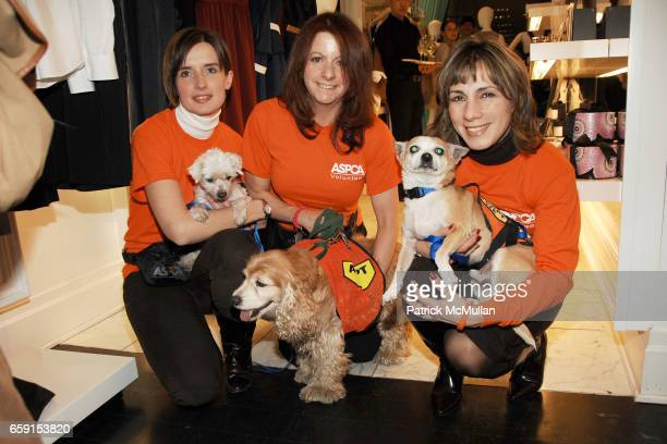 Ania Poinvil Michael the Dog Elizabeth Silverman Lady the Dog Elaine Florio and Mel the Dog attend EDIT Loves ASPCA Shopping Benefit at Edit...