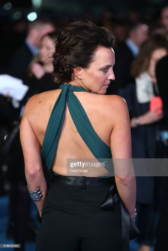 Ania Sowinski attends the European Premiere of 'Eddie The Eagle' at Odeon Leicester Square on March 17, 2016 in London, England.
