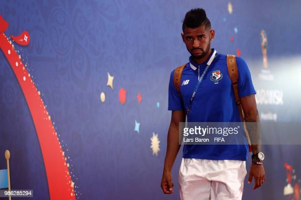 Anibal Godoy of Panama arrives at the stadium prior to the 2018 FIFA World Cup Russia group G match between Panama and Tunisia at Mordovia Arena on...