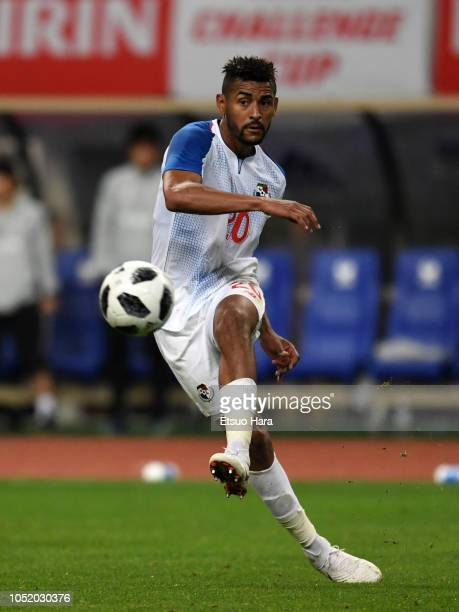 Anibal Godoy of Panama in action during the international friendly match between Japan and Panama at Denka Big Swan Stadium on October 12 2018 in...