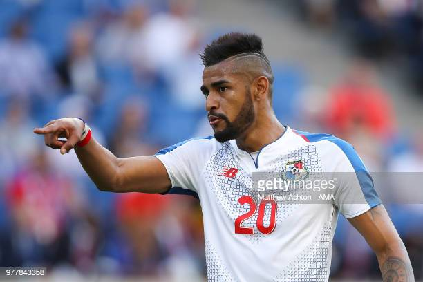 Anibal Godoy of Panama looks on during the 2018 FIFA World Cup Russia group G match between Belgium and Panama at Fisht Stadium on June 18 2018 in...