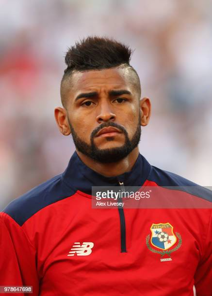 Anibal Godoy of Panama looks on prior to the 2018 FIFA World Cup Russia group G match between Belgium and Panama at Fisht Stadium on June 18 2018 in...