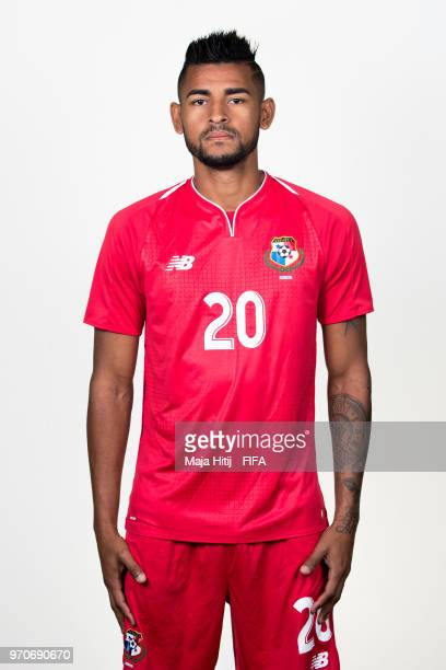 Anibal Godoy of Panama poses for a portrait during the official FIFA World Cup 2018 portrait session at the Saransk Olympic Training Center on June 9...