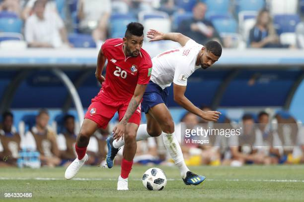 Anibal Godoy of Panama Ruben LoftusCheek of England during the 2018 FIFA World Cup Russia group G match between England and Panama at the Nizhny...
