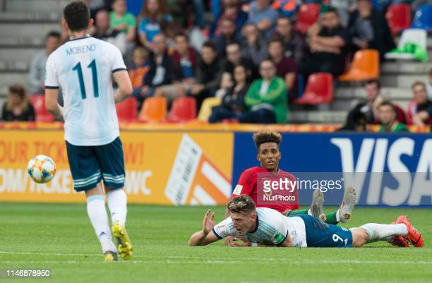 Anibal Moreno Adolfo Gaich Gedson during the 2019 FIFA U20 World Cup group F match between Portugal and Argentina at BielskoBiala Stadium on May 28...