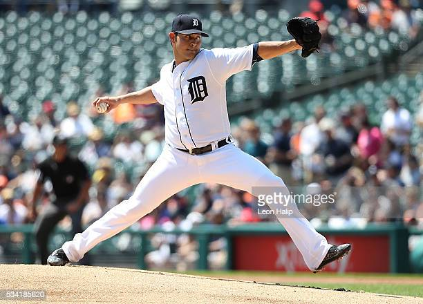Anibal Sanchez of the Detroit Tigers pitches during the first inning of the interleague game against the Philadelphia Phillies on May 25 2016 at...