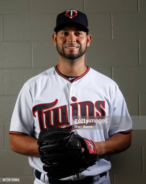 Anibal Sanchez of the Minnesota Twins poses for a portrait on February 21 2018 at Hammond Field in Ft Myers Florida