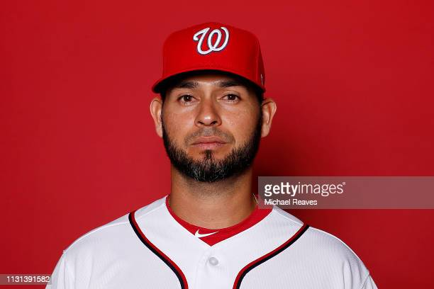 Anibal Sanchez of the Washington Nationals poses for a portrait on Photo Day at FITTEAM Ballpark of The Palm Beaches during on February 22 2019 in...