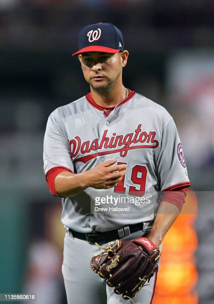 Anibal Sanchez of the Washington Nationals walks off the field after getting pulled from the game in sixth inning Philadelphia Phillies at Citizens...