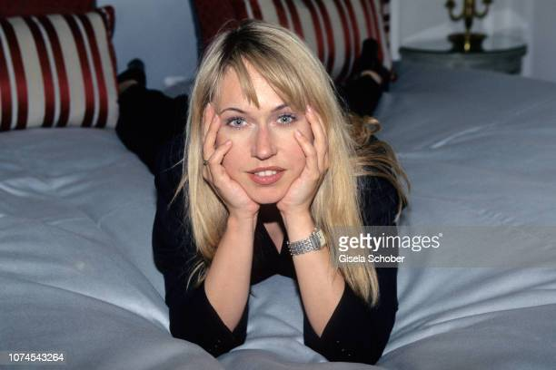 Anica Dobra poses for a portrait in June 1998 in Munich Germany