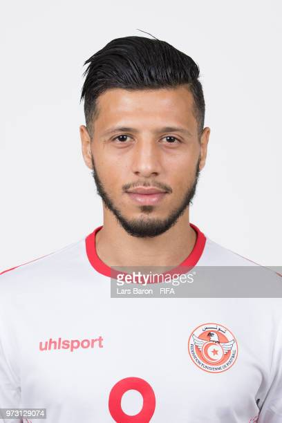 Anice Badri of Tunisa poses during the official FIFA World Cup 2018 portrait session on June 13 2018 in Moscow Russia