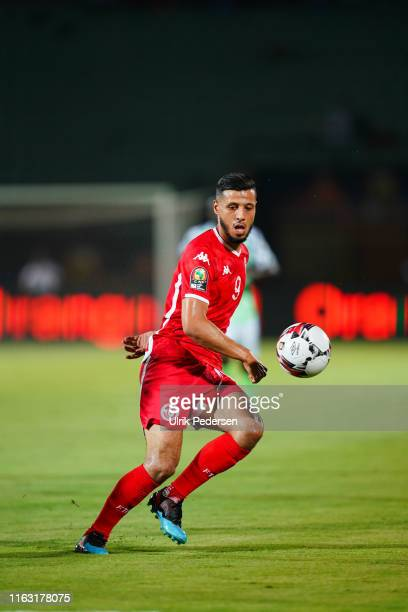 Anice Badri of Tunisia during the 2019 Africa Cup of Nations third place final soccer match between Tunisia and Nigeria at the Al-Salam Stadium on...