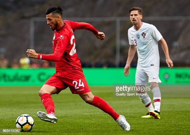 Anice Badri of Tunisia in action during the friendly match of preparation for FIFA 2018 World Cup between Portugal and Tunisia at the Estadio AXA on...