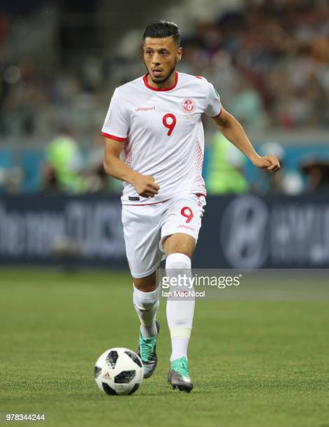 Anice Badri of Tunisia is seen during the 2018 FIFA World Cup Russia group G match between Tunisia and England at Volgograd Arena on June 18 2018 in...