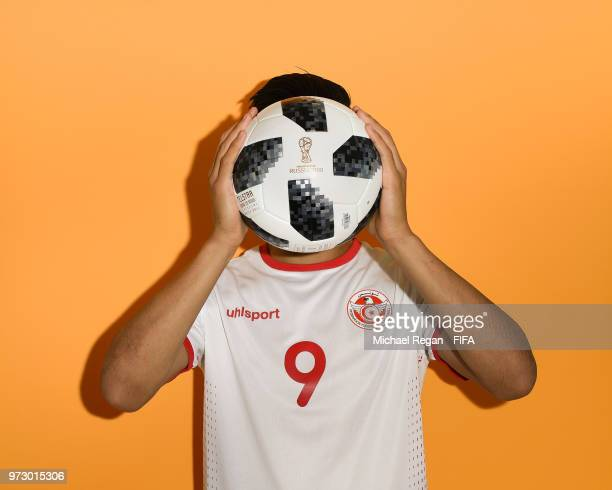 Anice Badri of Tunisia poses during the official FIFA World Cup 2018 portrait session at on June 13 2018 in Moscow Russia