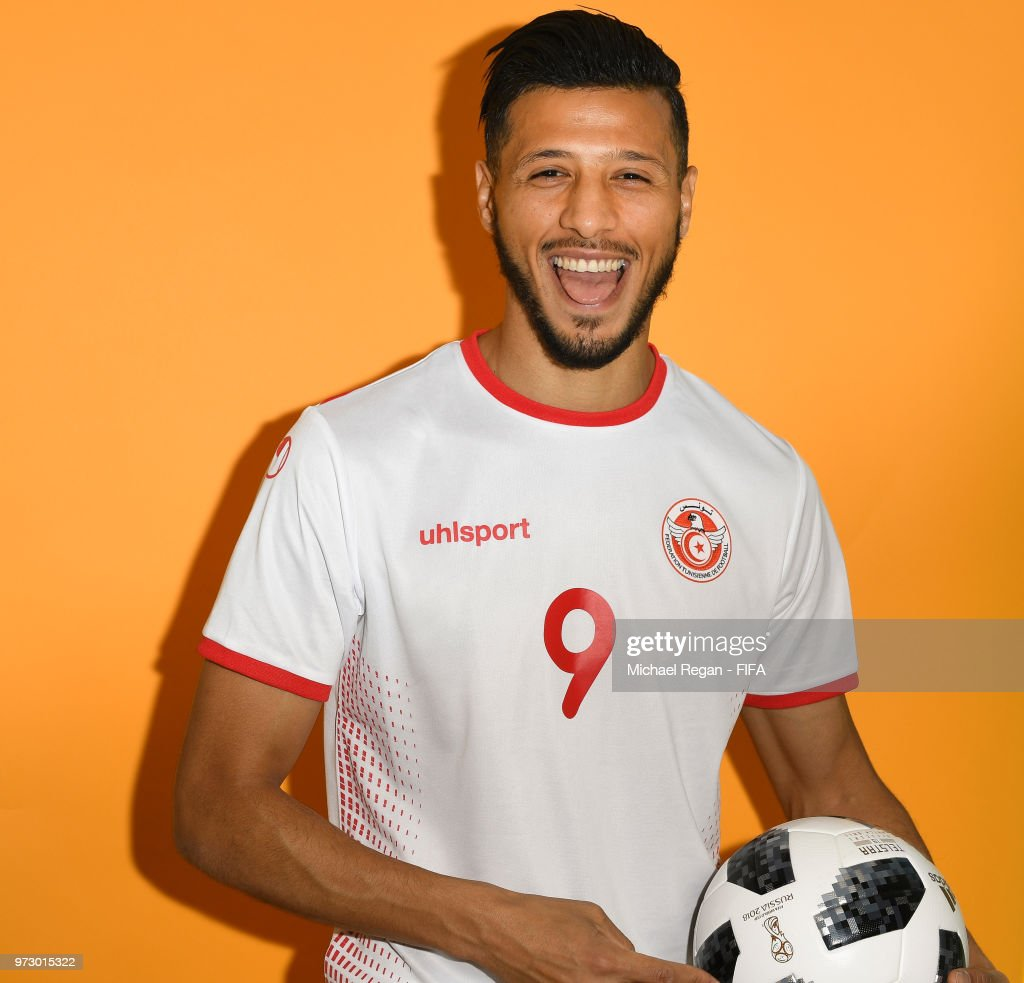 Anice Badri of Tunisia poses during the official FIFA World Cup 2018 portrait session at on June 13, 2018 in Moscow, Russia.