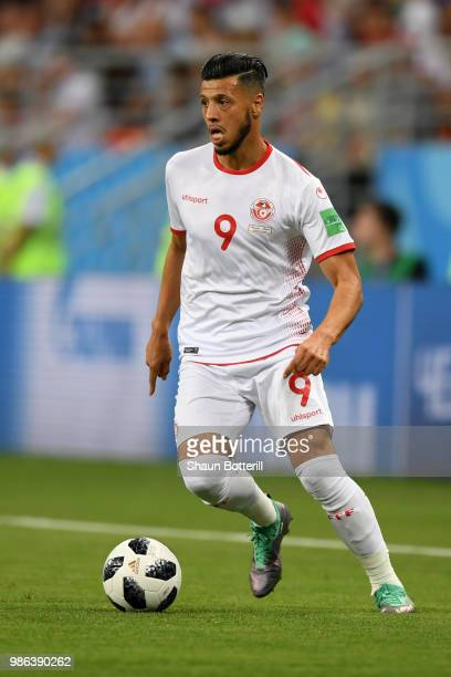 Anice Badri of Tunisia runs with the ball during the 2018 FIFA World Cup Russia group G match between Panama and Tunisia at Mordovia Arena on June 28...