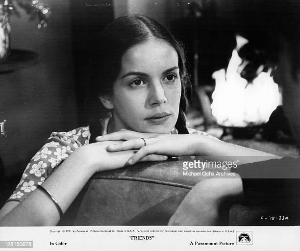 Anicee Alvina in reverie in a scene from the film 'Friends' 1971