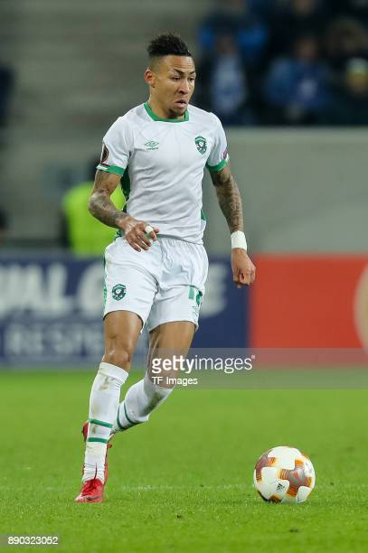 Anicet Abel of Ludogorets controls the ball during the UEFA Europa League group C match between 1899 Hoffenheim and PFC Ludogorets Razgrad at Wirsol...