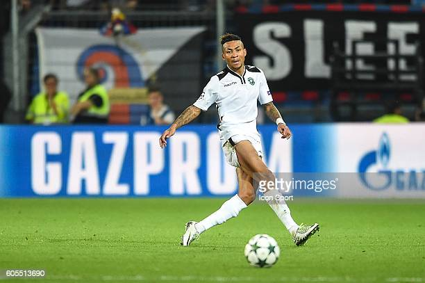 Anicet Abel of Ludogorets during the Uefa Champions League match between Basel Fc and PFC Ludogorets Razgrad on September 13 2016 in Basel Switzerland