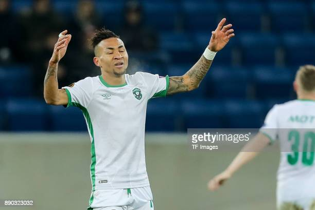 Anicet Abel of Ludogorets gestures during the UEFA Europa League group C match between 1899 Hoffenheim and PFC Ludogorets Razgrad at Wirsol...