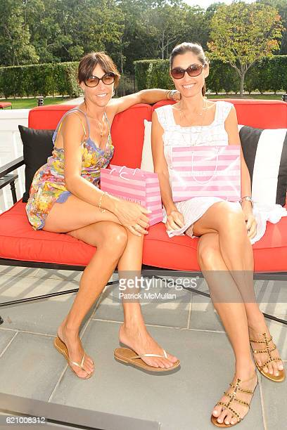 Anick Guira and Dara Tomanovich attend VICTORIA's SECRET Supermodel Obsessions Fall Preview Event at Home of Hanna Soukupova on August 16 2008 in Sag...