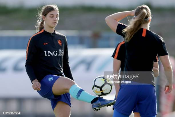 Aniek Nouwen of Holland Women during the Algarve Cup Women match between China PR v Holland at the Estadio Municipal de Albufeira on March 6, 2019 in...