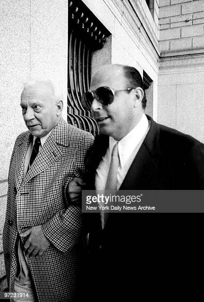 Aniello Dellacroce arrives at Federal Court Foley Square Looking frail after a stay at a hospital the alleged crime boss is assisted into Federal...