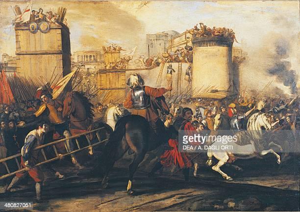 Aniello Falcone Assault on a Fortress circ 1630 oil on canvas 895x1265 cm Brescia Pinacoteca TosioMartinengo