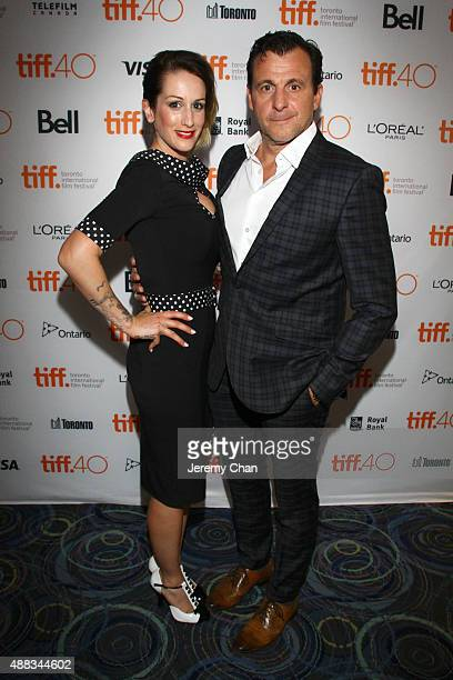 Anik Jean and Actor Patrick Huard attend the 'My Internship in Canada' photo call during the 2015 Toronto International Film Festival at Scotiabank...