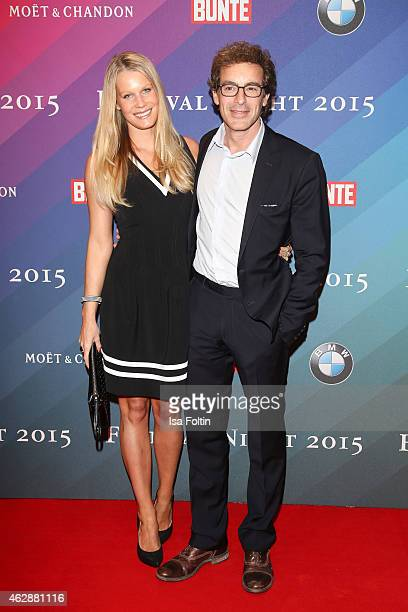 Anika Bormann and Gedeon Burkhard attend the Bunte BMW Festival Night 2015 on February 06 2015 in Berlin Germany