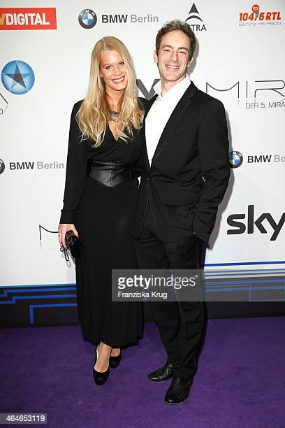 Anika Bormann and Gedeon Burkhard attend the Mira Award 2014 on January 23 2014 in Berlin Germany