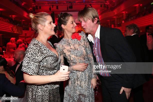 Anika Decker Alexandra Maria Lara Detlev Buck during the 46th German Film Ball party at Hotel Bayerischer Hof on January 26 2019 in Munich Germany
