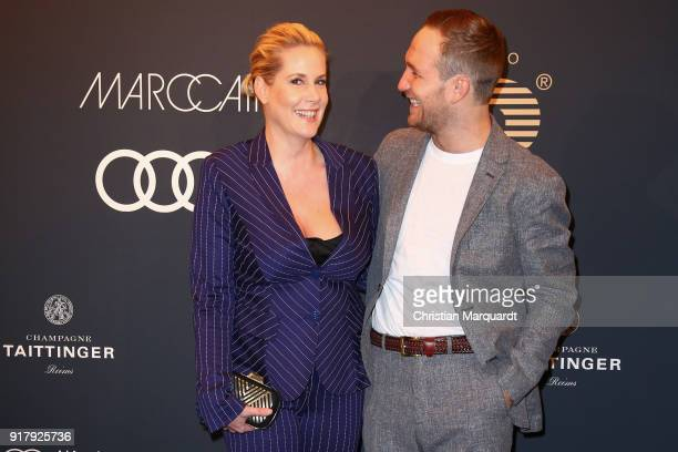 Anika Decker and Friedrich Lau atten the PLACE TO B PreBerlinaleDinner Photo Call at Provocateur on February 13 2018 in Berlin Germany