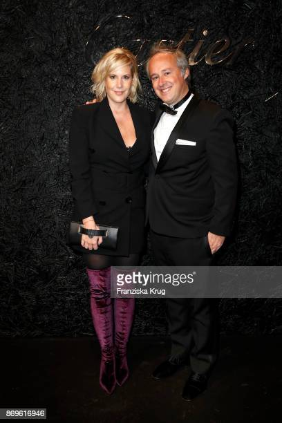 Anika Decker and Managing Director Cartier Northern Europe Renaud Lestringant attend the When the Ordinary becomes Precious #CartierParty at Old...