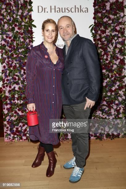 Anika Decker and Thomas Darchinger during DrHauschka at the Medienboard BerlinBrandenburg Reception during the 68th Berlinale International Film...
