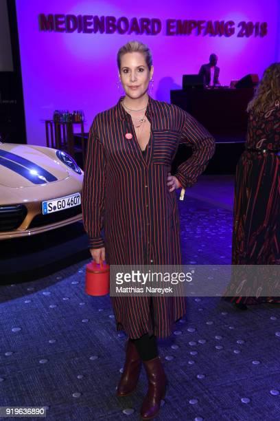 Anika Decker attends the Medienboard BerlinBrandenburg Reception during the 68th Berlinale International Film Festival Berlin at on February 17 2018...