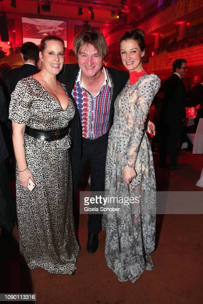 Anika Decker Detlev Buck and Alexandra Maria Lara during the 46th German Film Ball party at Hotel Bayerischer Hof on January 26 2019 in Munich Germany