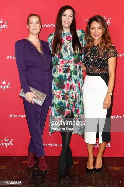 Anika Decker Liv Tyler and Nazan Eckes during the Triumph event at Soho House on November 16 2018 in Berlin Germany