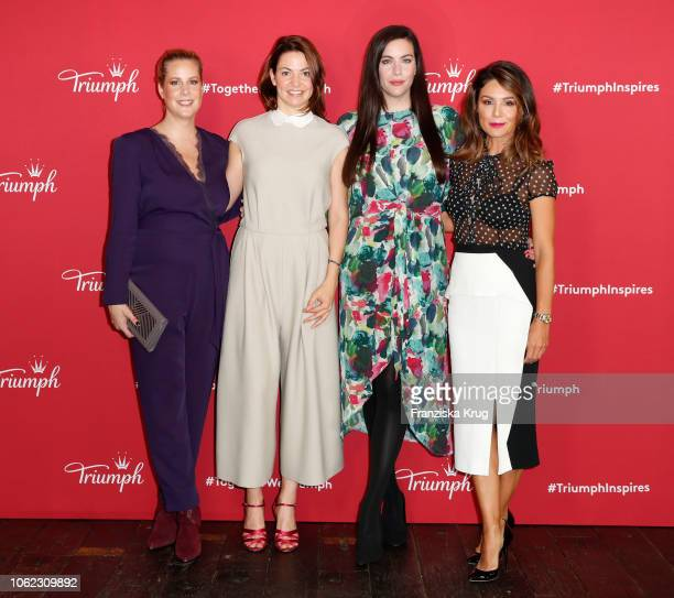 Anika Decker Vera Hulbert Liv Tyler and Nazan Eckes during the Triumph event at Soho House on November 16 2018 in Berlin Germany