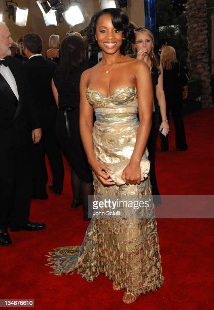 Anika Noni Rose 12864_JS_0132.jpg during TNT/TBS Broadcasts 13th Annual Screen Actors Guild Awards - Red Carpet at Shrine Auditorium in Los Angeles,...