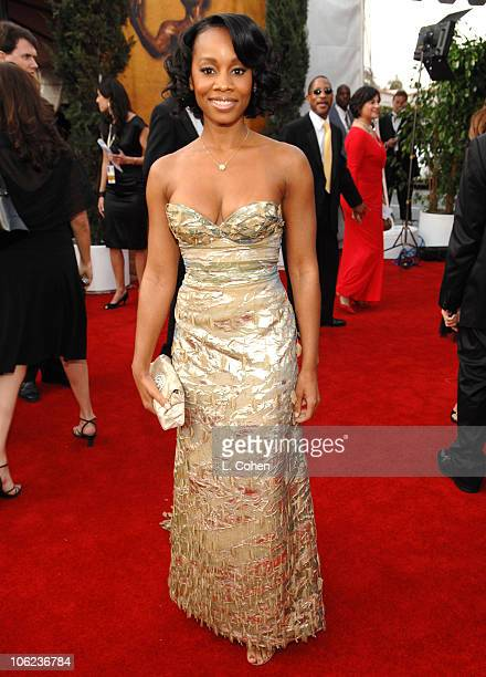 Anika Noni Rose 12864_LC_0668.jpg during TNT/TBS Broadcasts 13th Annual Screen Actors Guild Awards - Red Carpet at Shrine Auditorium in Los Angeles,...