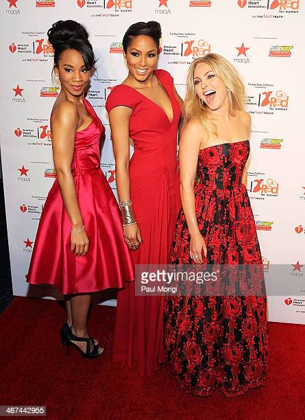 Anika Noni Rose Alicia Quarles and AnnaSophia Robb attend the Go Red For Women The Heart Truth Red Dress Collection during MercedesBenz Fashion Week...