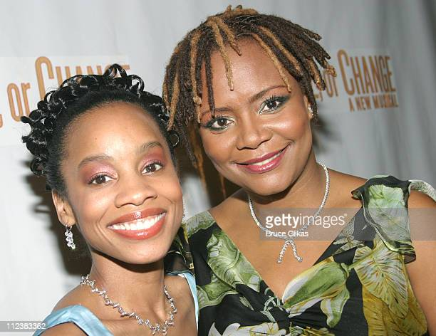 Anika Noni Rose and Tonya Pinkins during Caroline Or Change Opening Night on Broadway After Party at Gotham Hall in New York City New York United...