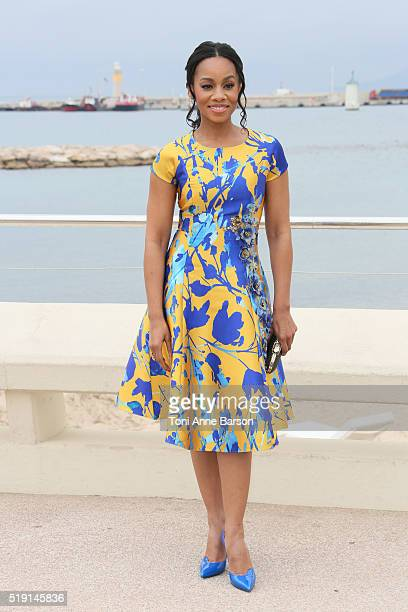 Anika Noni Rose attend 'Roots' Photocall as part of MIPTV 2016 on April 4 2016 in Cannes France