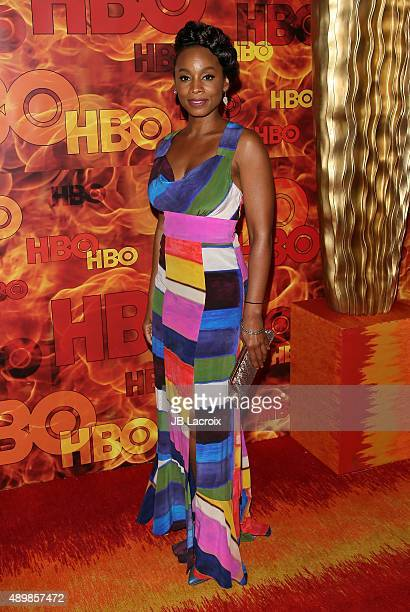 Anika Noni Rose attends HBO's Official 2015 Emmy After Party at The Plaza at the Pacific Design Center on September 20, 2015 in Los Angeles,...