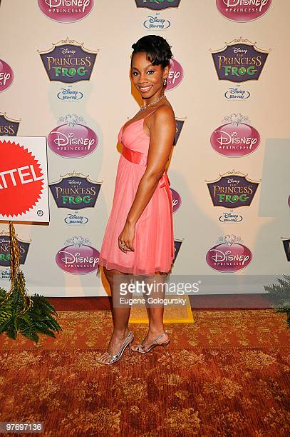 Anika Noni Rose attends Princess Tiana's official induction into the Disney Princess Royal Court and The Princess and the Frog DVD launch at The New...