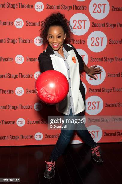 Anika Noni Rose attends the 2014 Second Stage Theatre's All-Star Bowling Classic fundraiser at Lucky Strike Lanes & Lounge on February 3, 2014 in New...